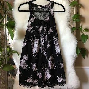 s Black Lace Button up dress